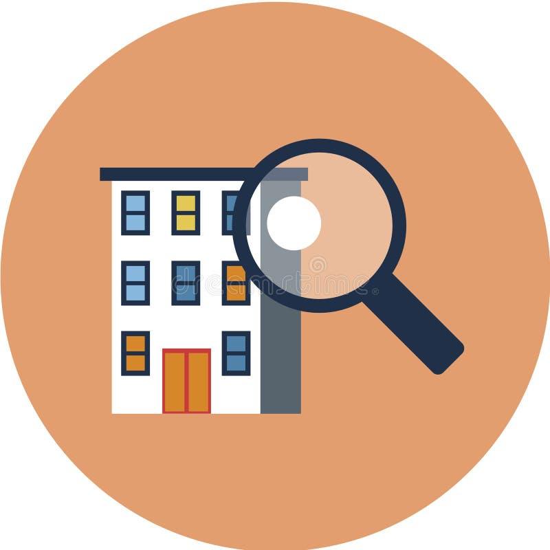 Bâtiments résidentiels de ville, ensemble d'icônes de vecteur Objets municipaux d'immobiliers d'isolement sur le fond blanc illustration de vecteur