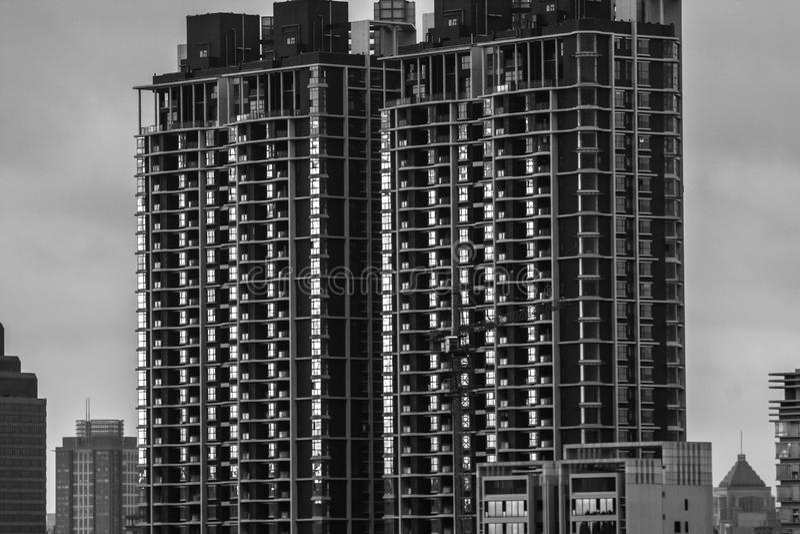 Bâtiments résidentiels denses photos stock