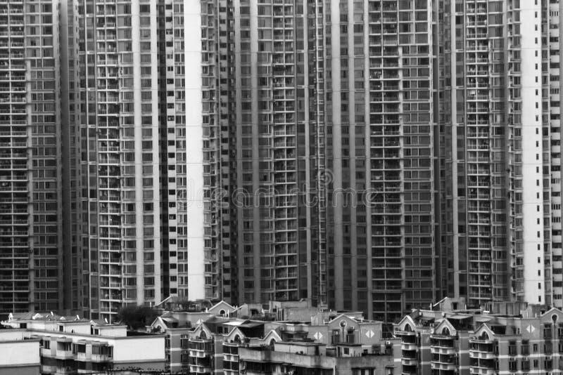 Bâtiments résidentiels denses image libre de droits