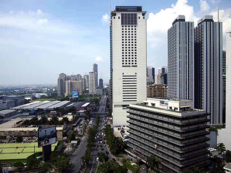 Bâtiments résidentiels et commerciaux dans la ville de Pasig, Philippines photos stock