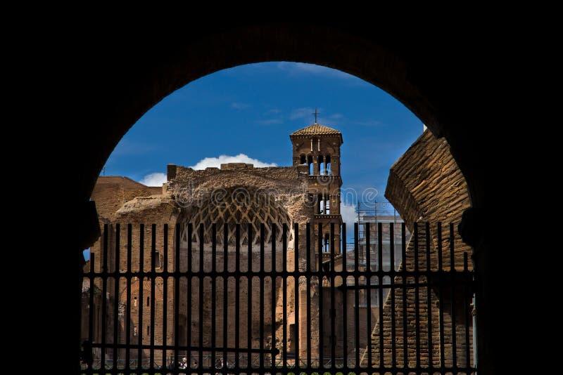 Bâtiments romains antiques à Rome Italie photos stock