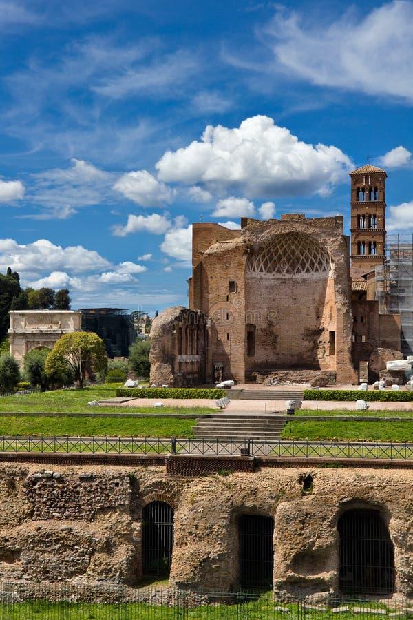 Bâtiments romains antiques à Rome Italie photo libre de droits
