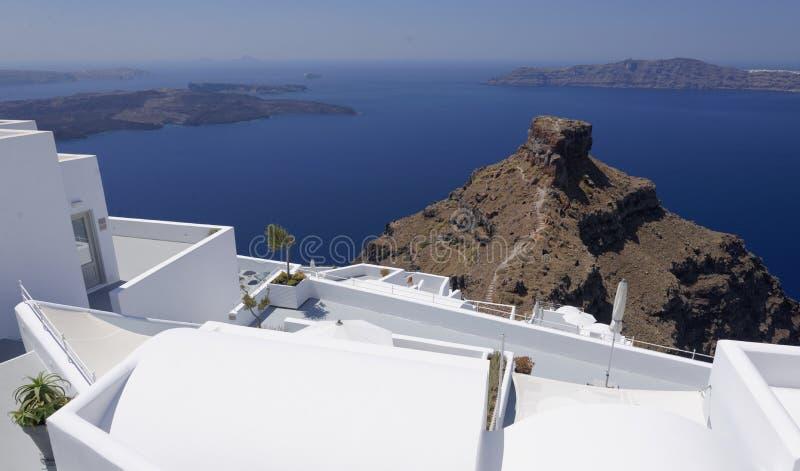 Bâtiments sur l'île de Santorini photos libres de droits