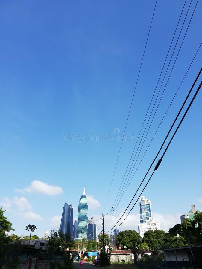 Bâtiments Tornillo de Panamá City image stock