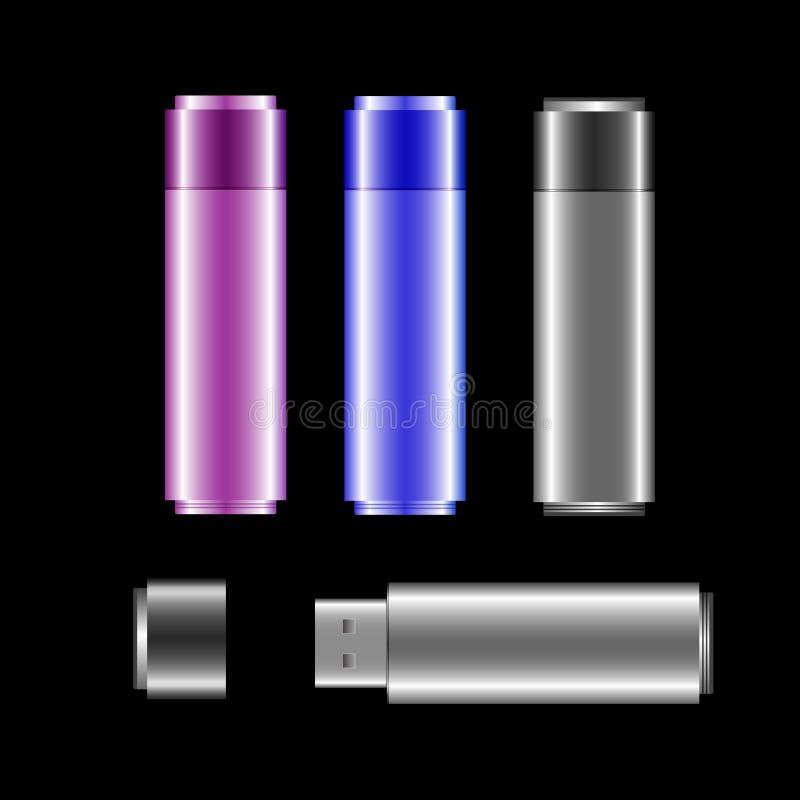 Bâton d'USB (fichier de vecteur compris) illustration libre de droits