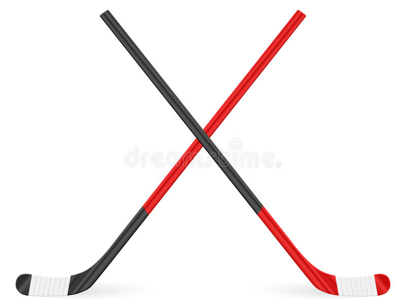 Bâton de hockey illustration stock