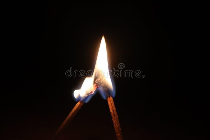 Bâton de match brûlant ensemble images libres de droits