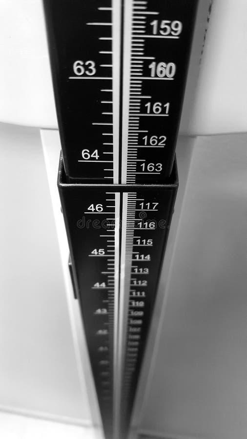 Bâton de mesure de taille images stock