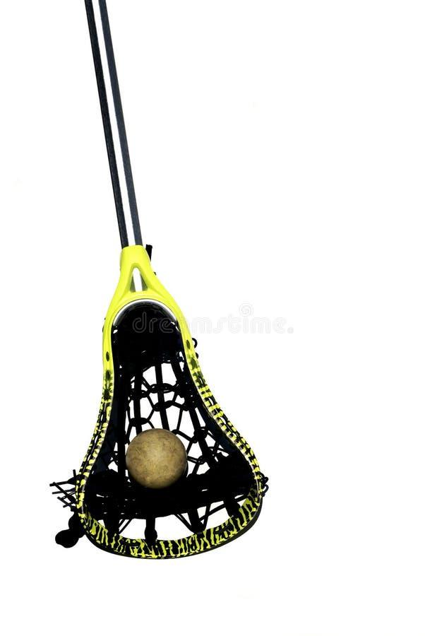 Bâton et bille de Lacrosse image stock