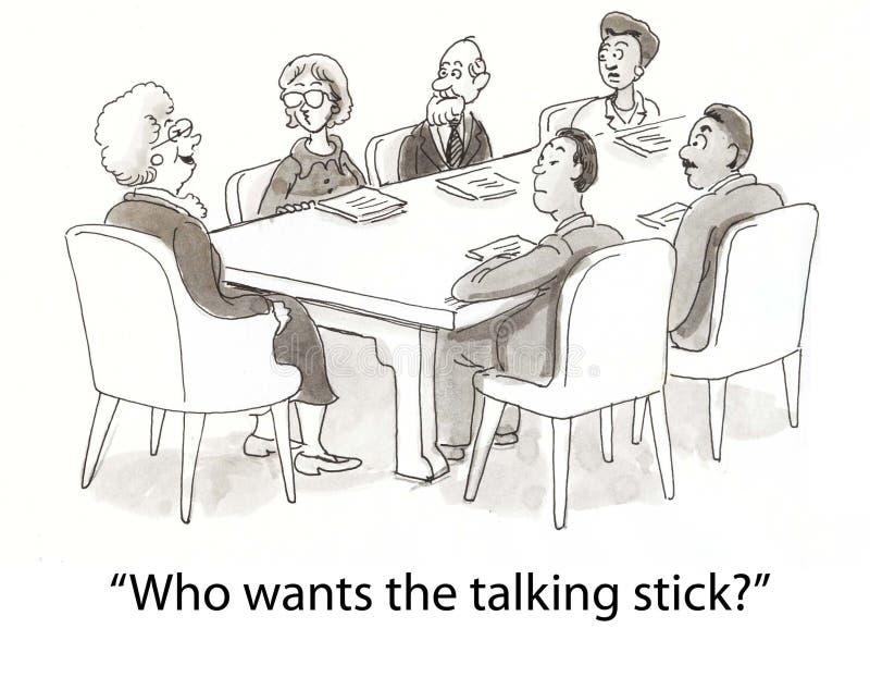 Bâton parlant illustration stock