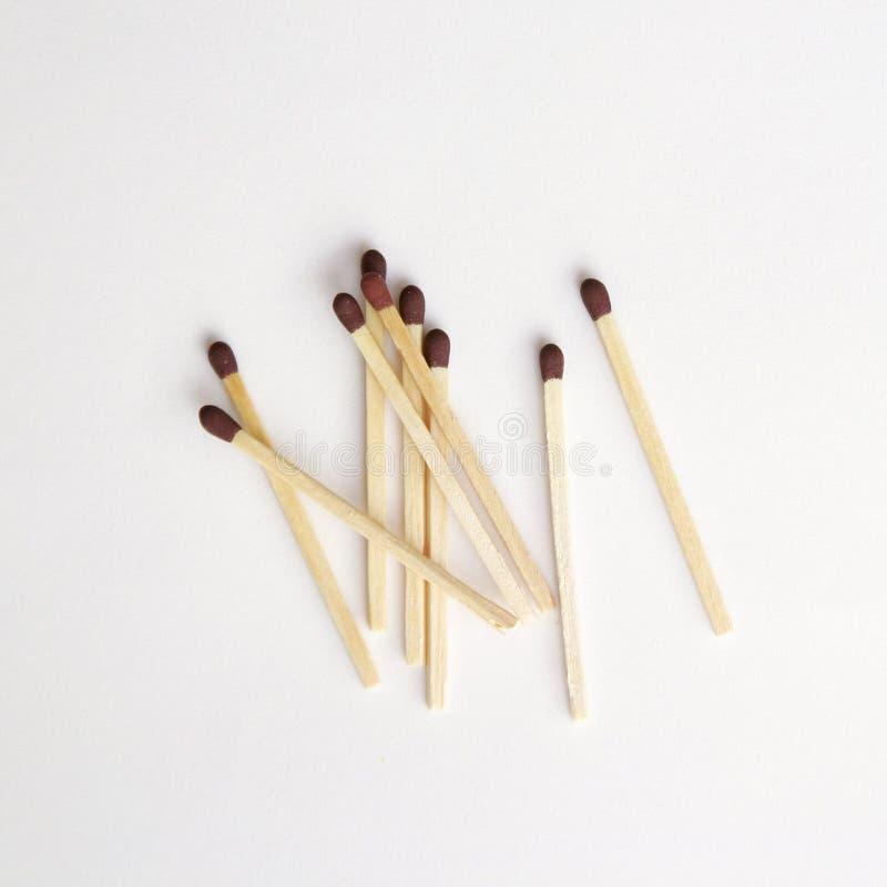 Bâtons d'allumette dans un groupe photo stock