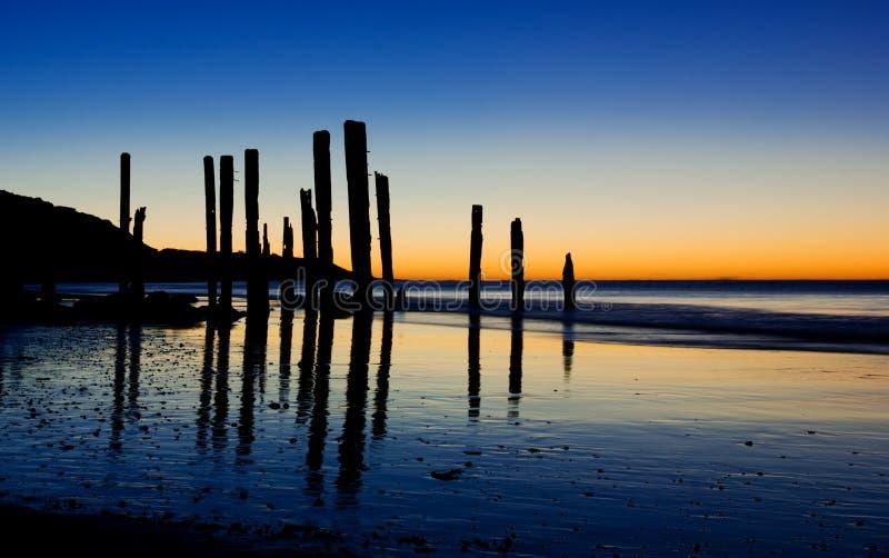 Bâtons de coucher du soleil images libres de droits