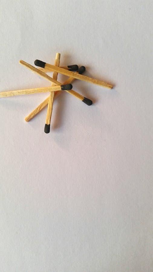 Bâtons de match photo libre de droits