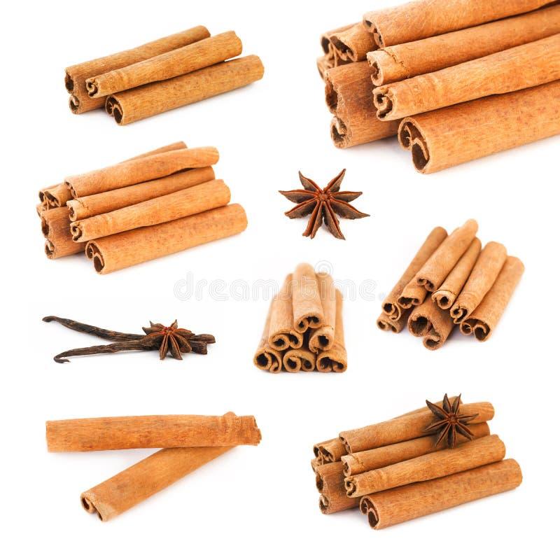 Bâtons de vanille de bâtons de cannelle, anis photos stock