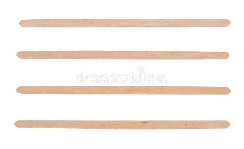 Bâtons en bois d'agitateur photo stock
