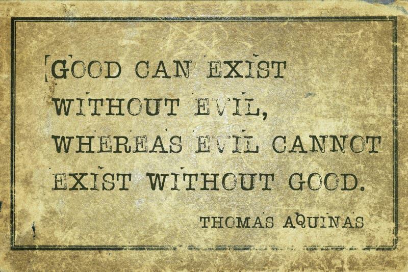 Bóg i diabeł Aquinas royalty ilustracja