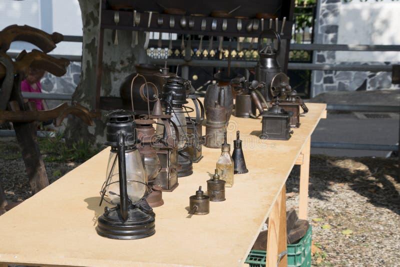 BÃ ³ veda, Lugo, Spanje, 14 Juli, 2018: Ambacht Eerlijke Outrora van Rubian stock afbeeldingen