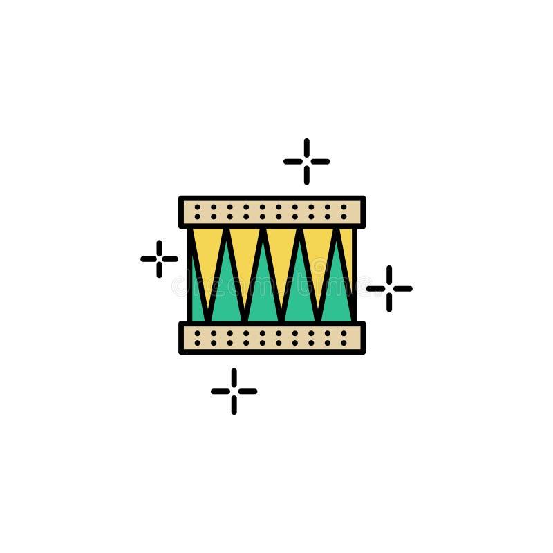 Bęben, instrument ikona Element koloru St Patricks dnia ikona Premii ilości graficznego projekta ikona znaki i symbole inkasowi ilustracji