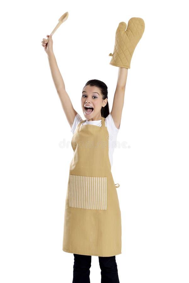 Bäcker-/Cheffrau stockfotografie