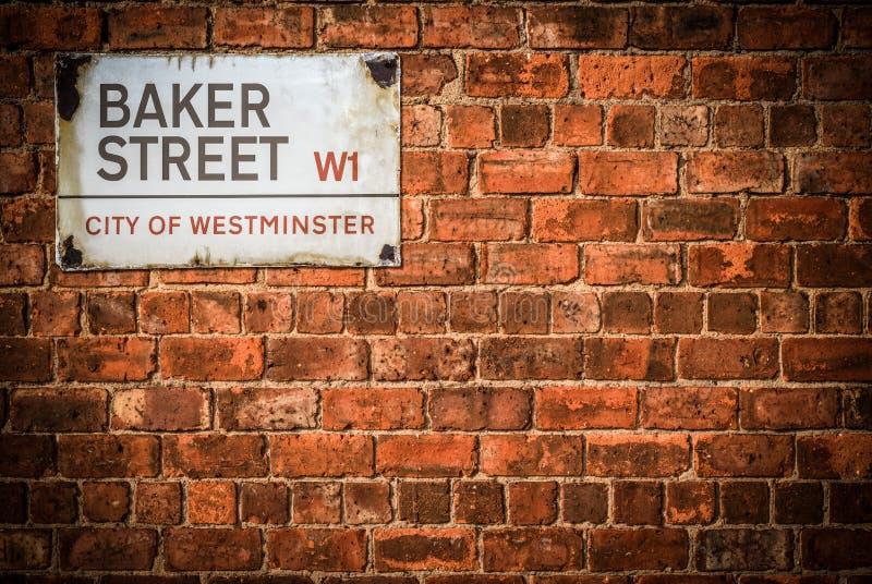 Bäcker Street London stockfotos