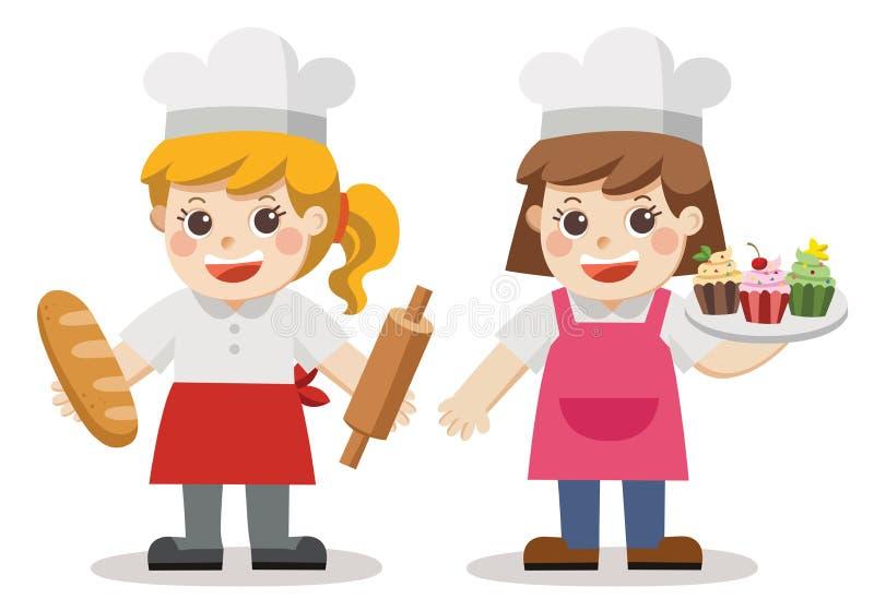 Bäckerbäckereithema lizenzfreie abbildung