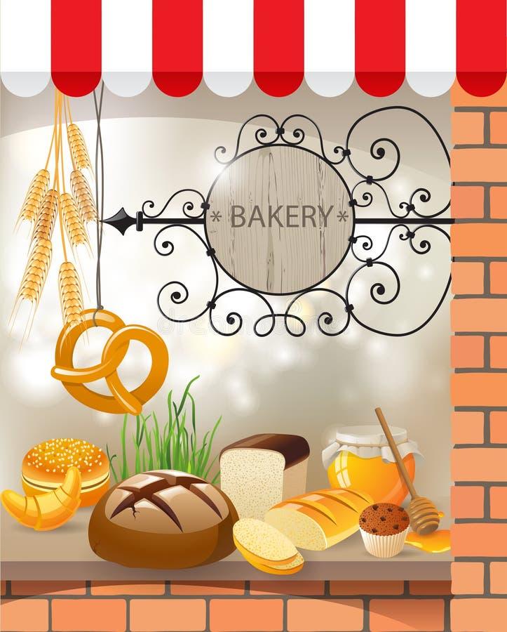 Bäckerei vektor abbildung
