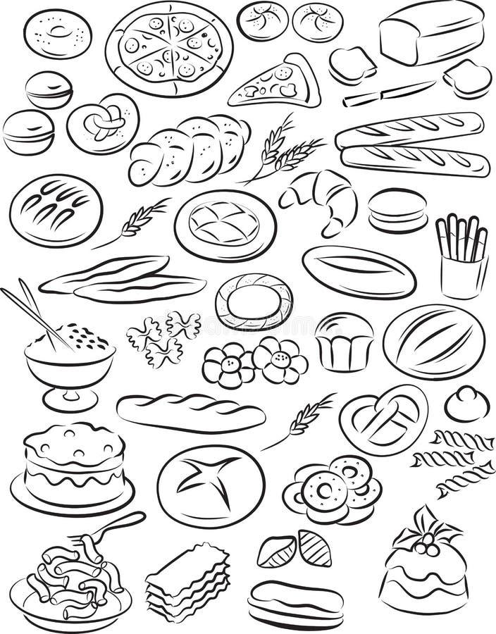 Bäckerei lizenzfreie abbildung