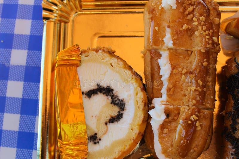 Bäckerei-Bonbon-Bäckerei-Bonbons gebacken stockbild
