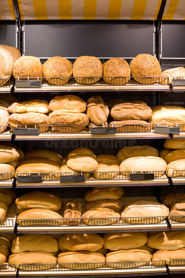 Bäckerei - Brotspeicher stockfoto