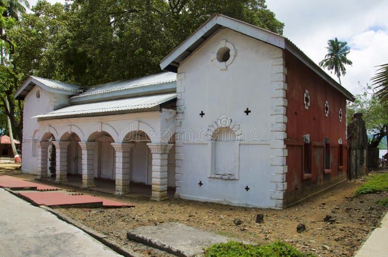 Bäckerei und historische Ruinen, Ross Island, Andaman und Nikobaren lizenzfreie stockbilder