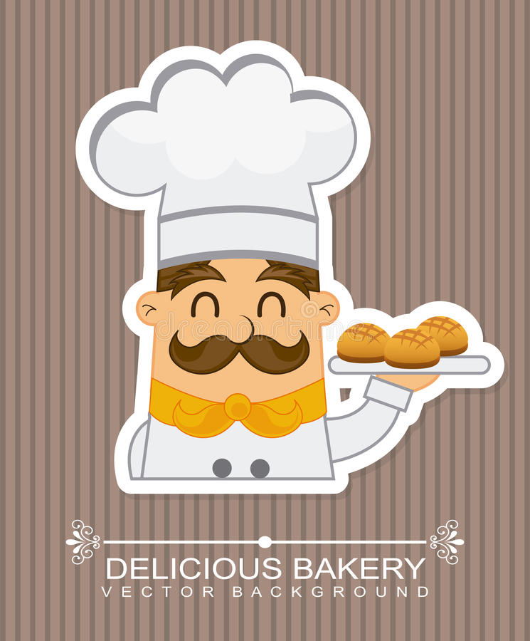 Bäckereiikone stock abbildung