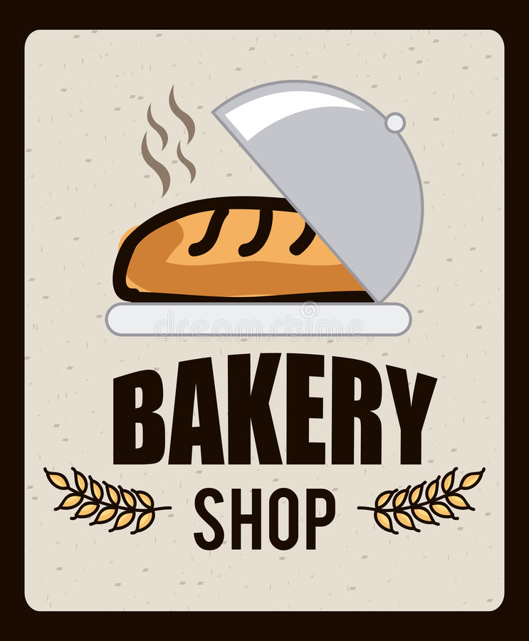 Bäckereiikone lizenzfreie abbildung