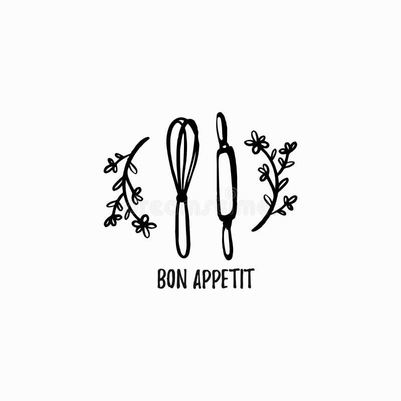 Bäckereilogo Bon appetit lizenzfreie abbildung
