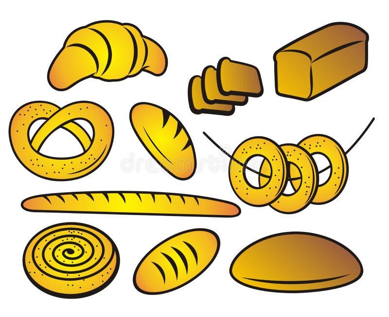 Bäckereiprodukte. vektor abbildung