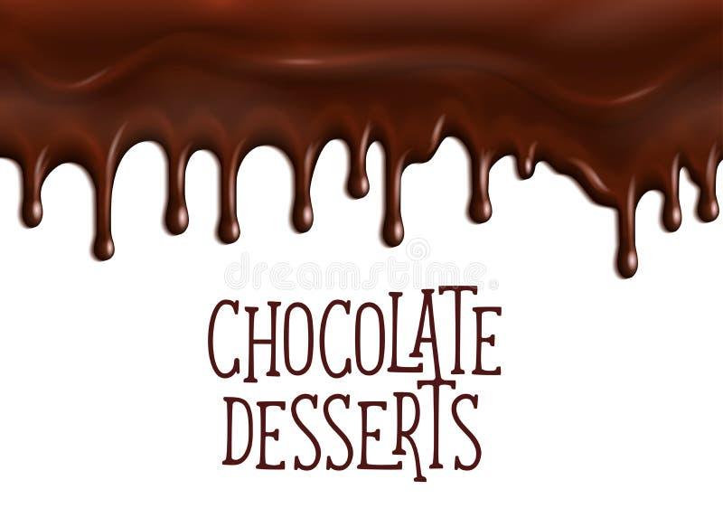 Bäckereischokoladennachtisch-Vektorplakat für Café lizenzfreie abbildung