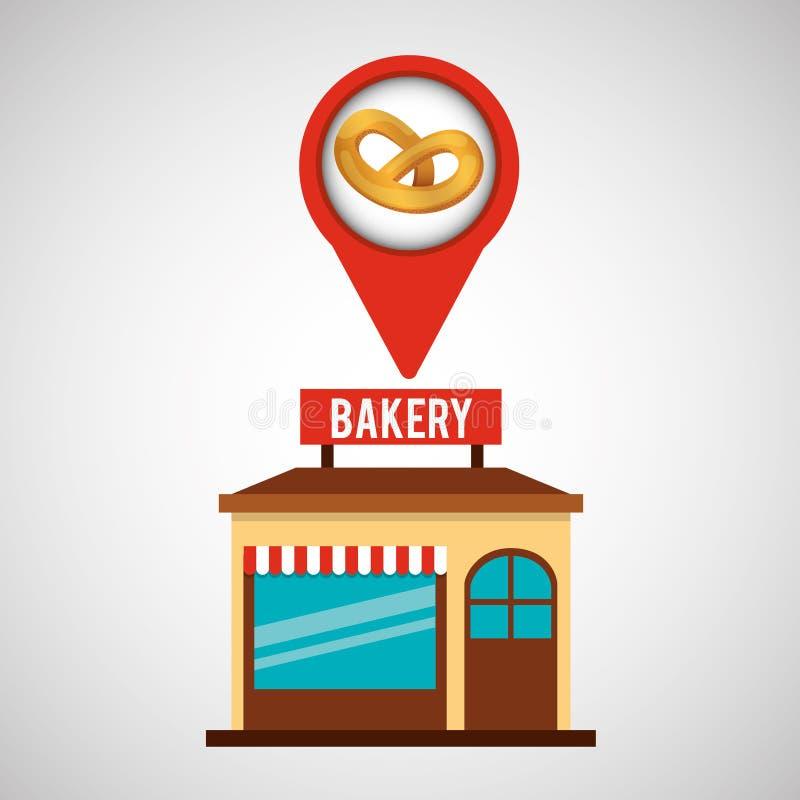Bäckereispeicher-Brezelbrot lizenzfreie abbildung