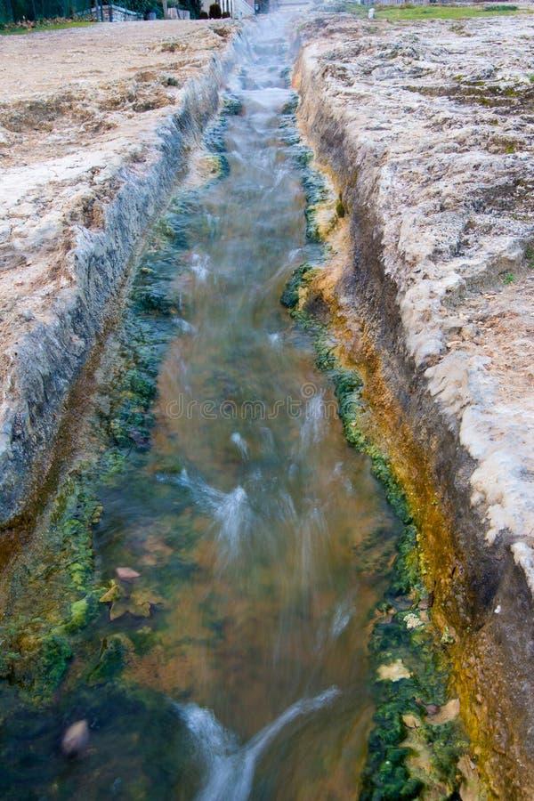 Bäder der heißen Quelle des Heißwassers lizenzfreies stockfoto