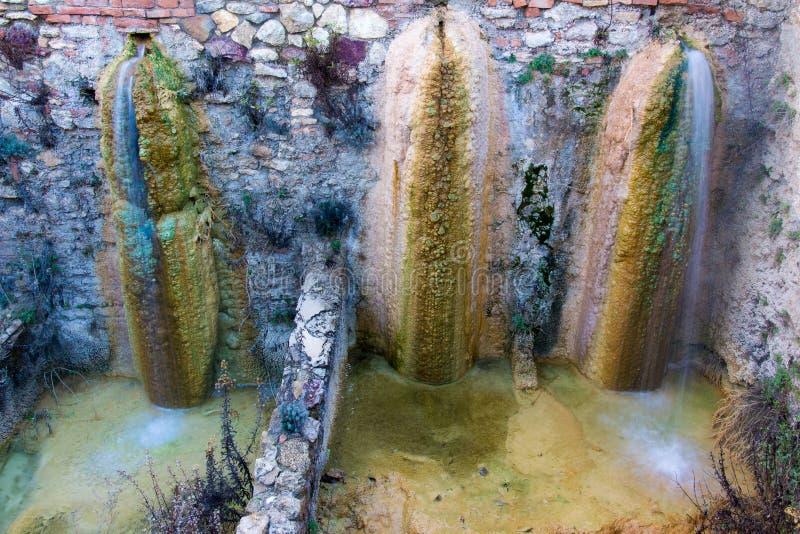 Bäder der heißen Quelle des Heißwassers lizenzfreies stockbild