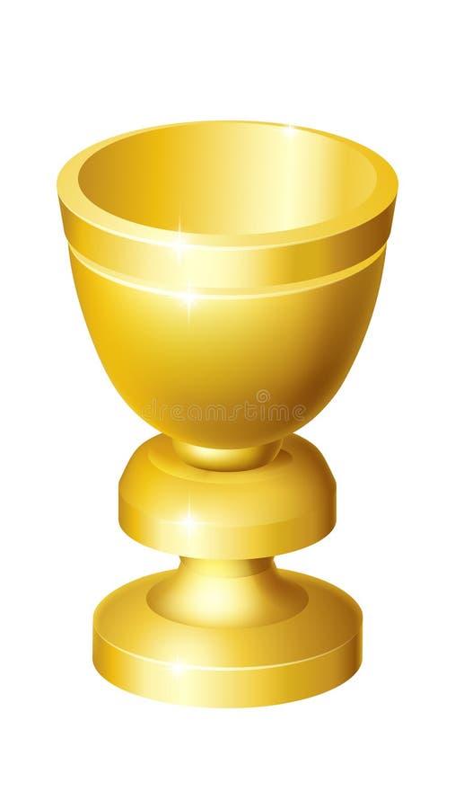 Bägare för bägare för kopp för helig gral guld- stock illustrationer