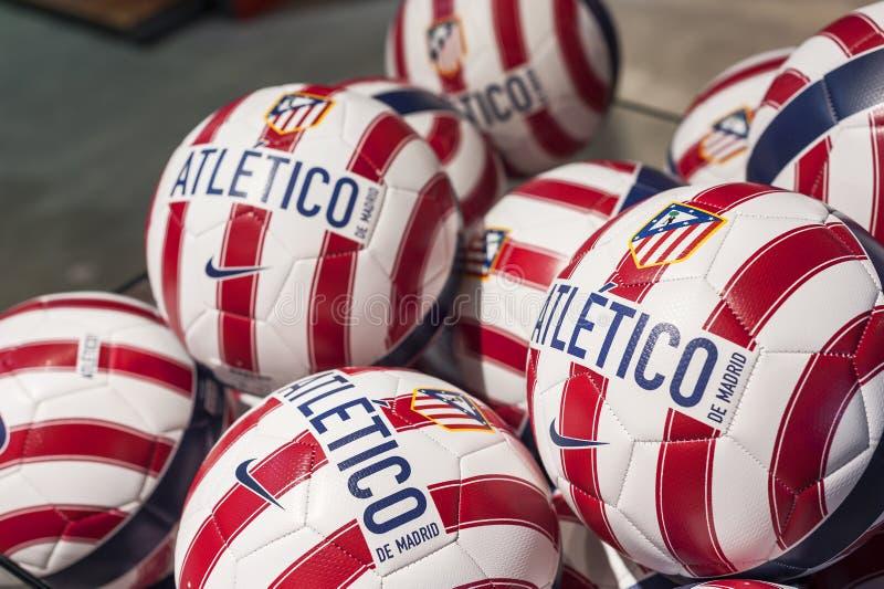 Bälle Atletico Madrid lizenzfreie stockfotos