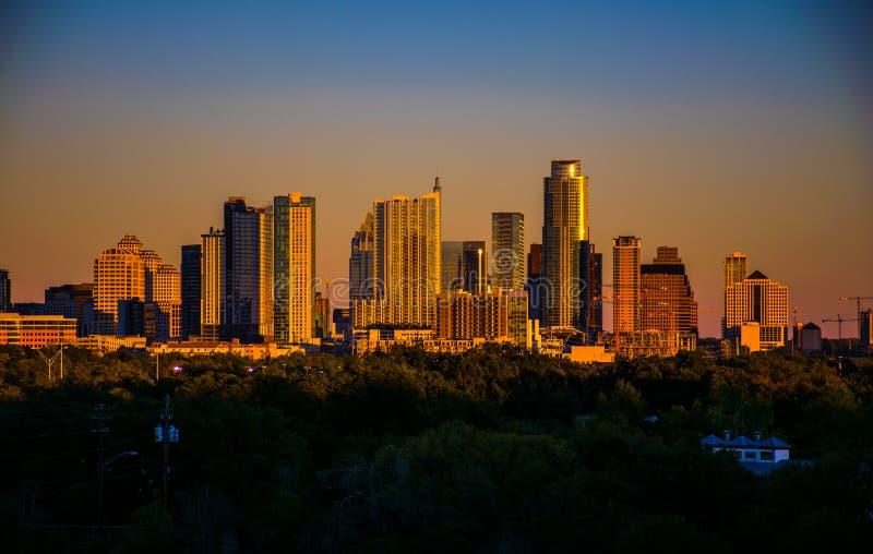 Bälte av Venus över den Austin Best staden i Texas arkivfoton