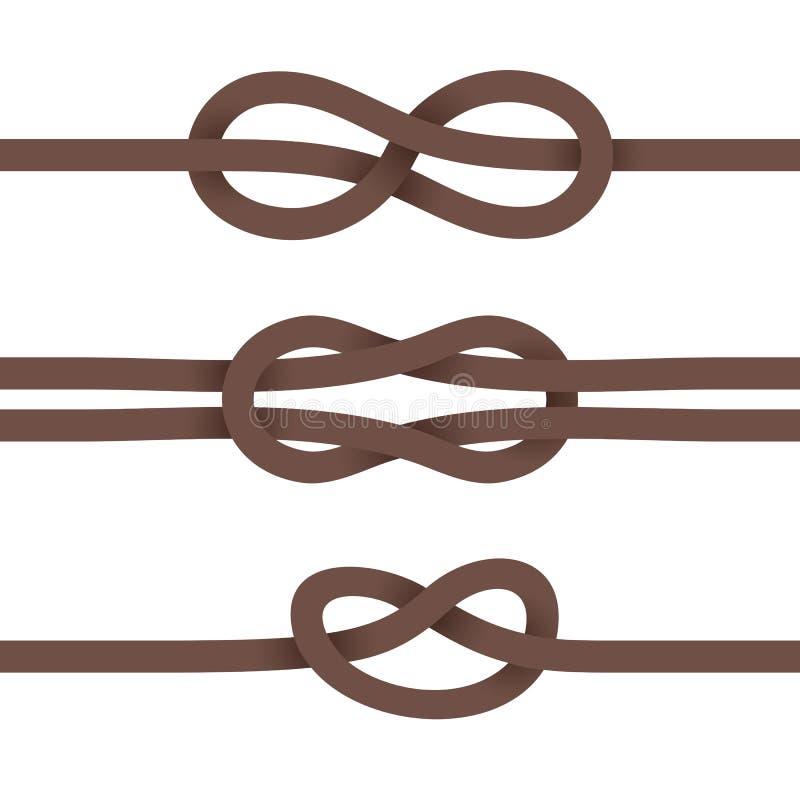 Bänder werden in den Knoten gebunden lizenzfreie abbildung