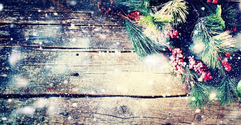 Bär för träd för gran för jultappningbakgrund royaltyfria foton