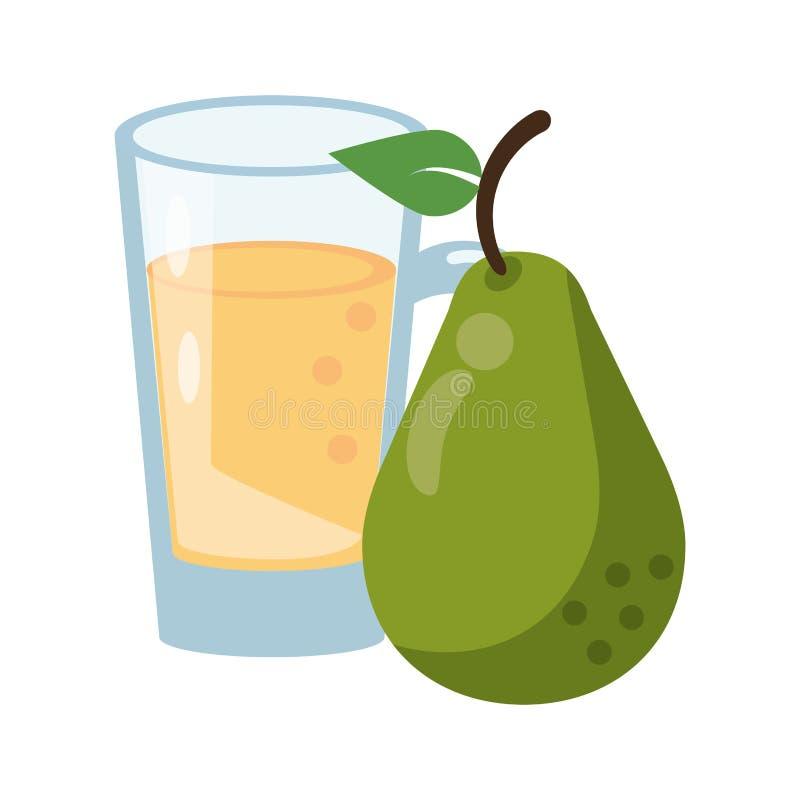 Bär frukt den nya läckra sunda tecknade filmen royaltyfri illustrationer