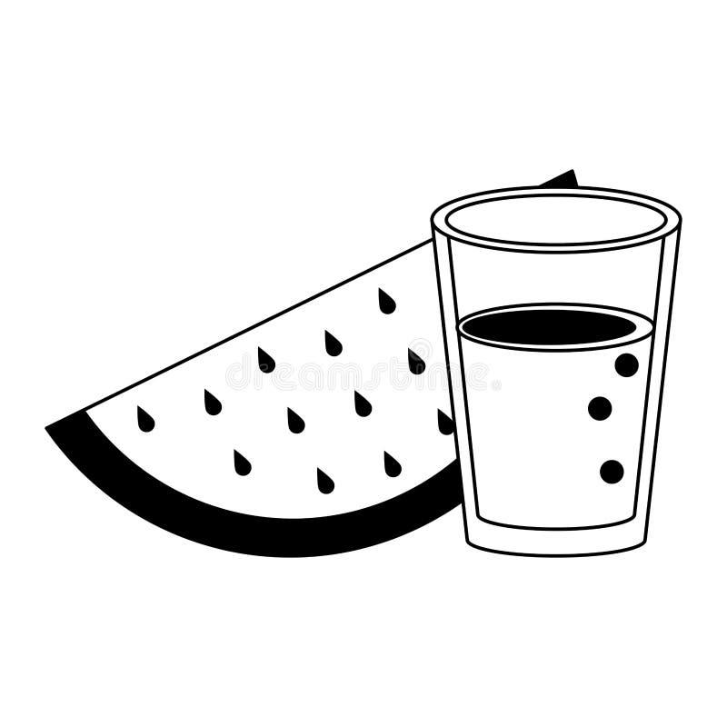 Bär frukt den nya läckra sunda tecknade filmen i svartvitt vektor illustrationer