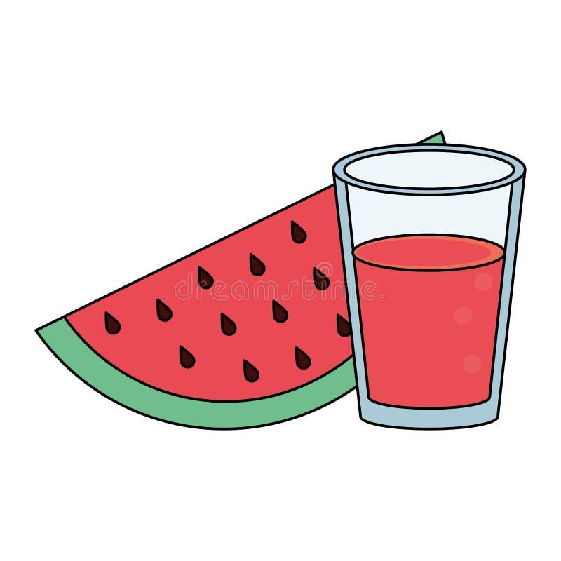 Bär frukt den nya läckra sunda tecknade filmen stock illustrationer