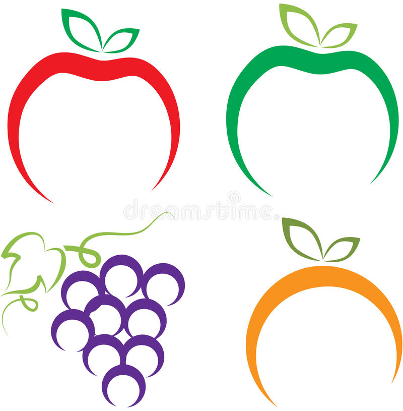 Bär frukt logoen vektor illustrationer