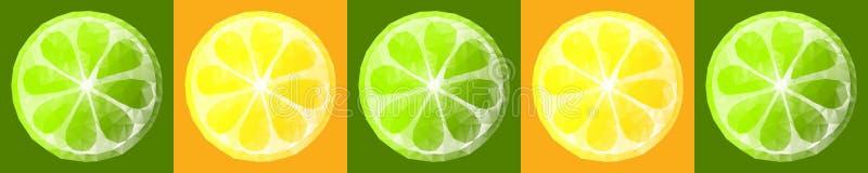 Bär frukt polygonal skivor för den Skinali vektorn, kökdesignen, format 30cm*6cm stock illustrationer