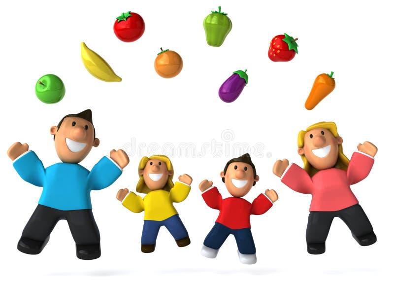 bär fruktt grönsaker stock illustrationer