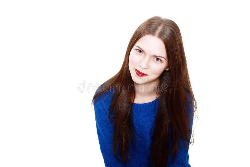 Bära för kvinna som är woolen royaltyfri fotografi